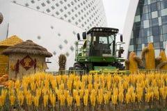 AAsian-Chinese, Peking, Landwirtschaft Carnivalï-¼ ŒLandscape-Plan, Ernten Lizenzfreie Stockfotos