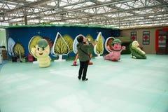 AAsian kines, Peking, åkerbruk Carnivalï ¼ŒIndoor mässhall Royaltyfri Foto
