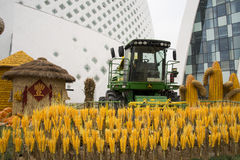 AAsian kines, Peking, den åkerbruka Carnivalï ¼ŒLandscape orienteringen, kantjusterar Royaltyfria Foton
