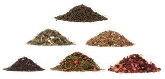 Aassortment do chá seco fotografia de stock