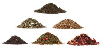 Aassortment of dry tea Stock Photography