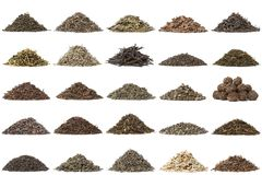 Aassortment Of Dry Tea Royalty Free Stock Photo