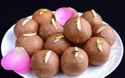Aata doce indiano Ladoo Fotografia de Stock