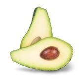 Aavocado découpé en tranches par vert avec l'os Image libre de droits