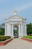Aayi Mandapam parka zabytek w Pondicherry, India zdjęcia royalty free