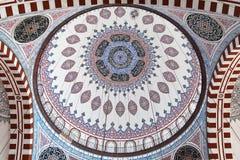 Abóbada central da mesquita de Sehzade Fotografia de Stock Royalty Free