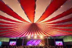 Abóbada, circo do toldo fotos de stock royalty free