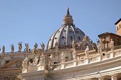 Abóbada da basílica de St Peter Fotografia de Stock Royalty Free