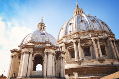 Abóbada da basílica de St Peter Imagens de Stock