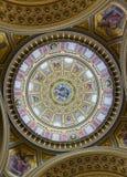 Abóbada da basílica do St. Stephen, Budapest, Hungria Imagem de Stock Royalty Free