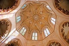 A abóbada da capela do ` dos fundadores no monastério de Batalha Imagem de Stock Royalty Free