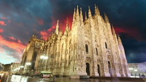 Abóbada da catedral de Milão - Itália, lapso de tempo Fotos de Stock