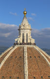 A abóbada da catedral de Santa-Maria-del-Fiore Fotos de Stock Royalty Free