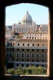 Abóbada da Cidade do Vaticano e do St.Peter foto de stock