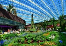 Abóbada da flor, jardins pela baía, Singapura Imagens de Stock