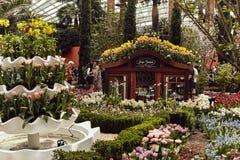 Abóbada da flor nos jardins pela baía fotos de stock royalty free