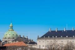 A abóbada da igreja de Frederik, Copehagen A igreja de Frederik é m fotos de stock royalty free