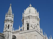 Ab?bada da igreja de St Mary, monast?rio de Jeronimos, Lisboa, Portugal fotografia de stock royalty free