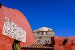 Abóbada da igreja em Santa Catalina Monastery foto de stock