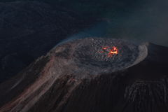 Abóbada da lava de Santiaguito em Guatemala Fotos de Stock
