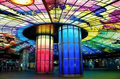 Abóbada da luz na estação do bulevar de Formosa, cidade de Kaohsiung, Taiwan Fotos de Stock