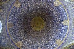 Abóbada da mesquita em Esfahan Foto de Stock