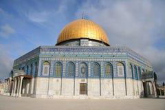 Abóbada da rocha, Jerusalem foto de stock
