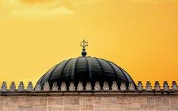 Abóbada da sinagoga com o sinal da estrela de David no por do sol fotos de stock