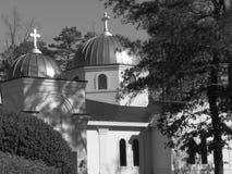 Abóbada de brilho na igreja ortodoxa Imagem de Stock