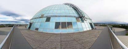 Abóbada de Perlan, opinião do panorama, Reykjavik, Islândia Foto de Stock
