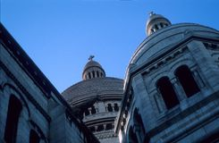 Abóbada de Sacre Coeur Fotos de Stock Royalty Free