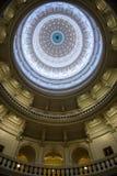 Abóbada de Texas State Capitol para dentro imagem de stock