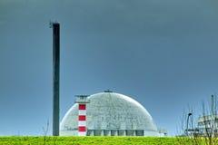 Abóbada de um central nuclear em Alemanha fotos de stock