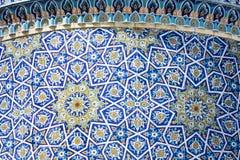 Abóbada decorada no madrasah de Barak Khan Imã Square Hazrati de Hast imagens de stock