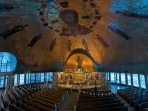 Abóbada dentro da catedral ortodoxo grega da ascensão, Oakland, foto de stock royalty free