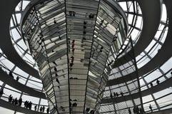 A abóbada do Bundestag Foto de Stock