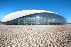 Abóbada do gelo de Bolshoy construída para os Jogos Olímpicos 2014 do inverno Fotos de Stock Royalty Free