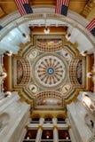 Abóbada do interior do Capitólio de Pensilvânia Imagens de Stock Royalty Free