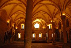 Abóbada do monastério de Alcobaca em Portugal Fotografia de Stock Royalty Free