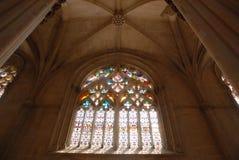 Abóbada do monastério de Batalha em Portugal Fotos de Stock Royalty Free