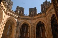Abóbada do monastério de Batalha em Portugal Fotos de Stock