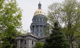 Abóbada do ouro do Capitólio do estado de Colorado fotografia de stock