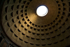 Abóbada do panteão, fundo da arquitetura Imagem de Stock Royalty Free
