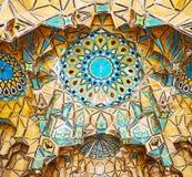 A abóbada do tijolo na casa de Qavam, Shiraz, Irã Imagens de Stock Royalty Free