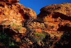Abóbada dos reis Garganta. Parque nacional de Watarrka, Território do Norte, Austrália Imagens de Stock Royalty Free