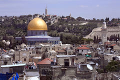 Abóbada dourada de Jerusalem. Imagens de Stock