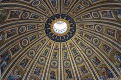 Abóbada em St basílico Pietro Foto de Stock