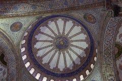 Abóbada principal da mesquita azul fotos de stock