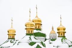 Abóbadas da catedral em Kiev Foto de Stock