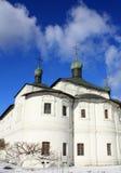 Abóbadas da catedral ortodoxo Imagens de Stock